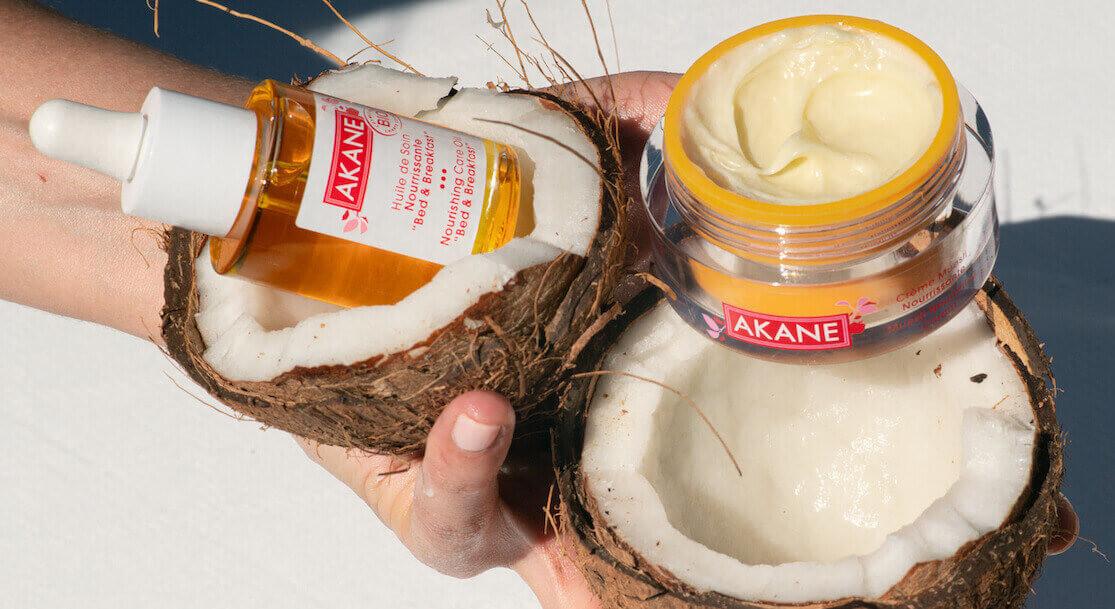 Tous les Soins Bio Akane pour peau sèche -Crèmes, huiles, masques